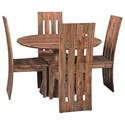 Coast to Coast Imports Brownstone 5-Piece Table and Chair Set - Item Number: 44625+2x98236