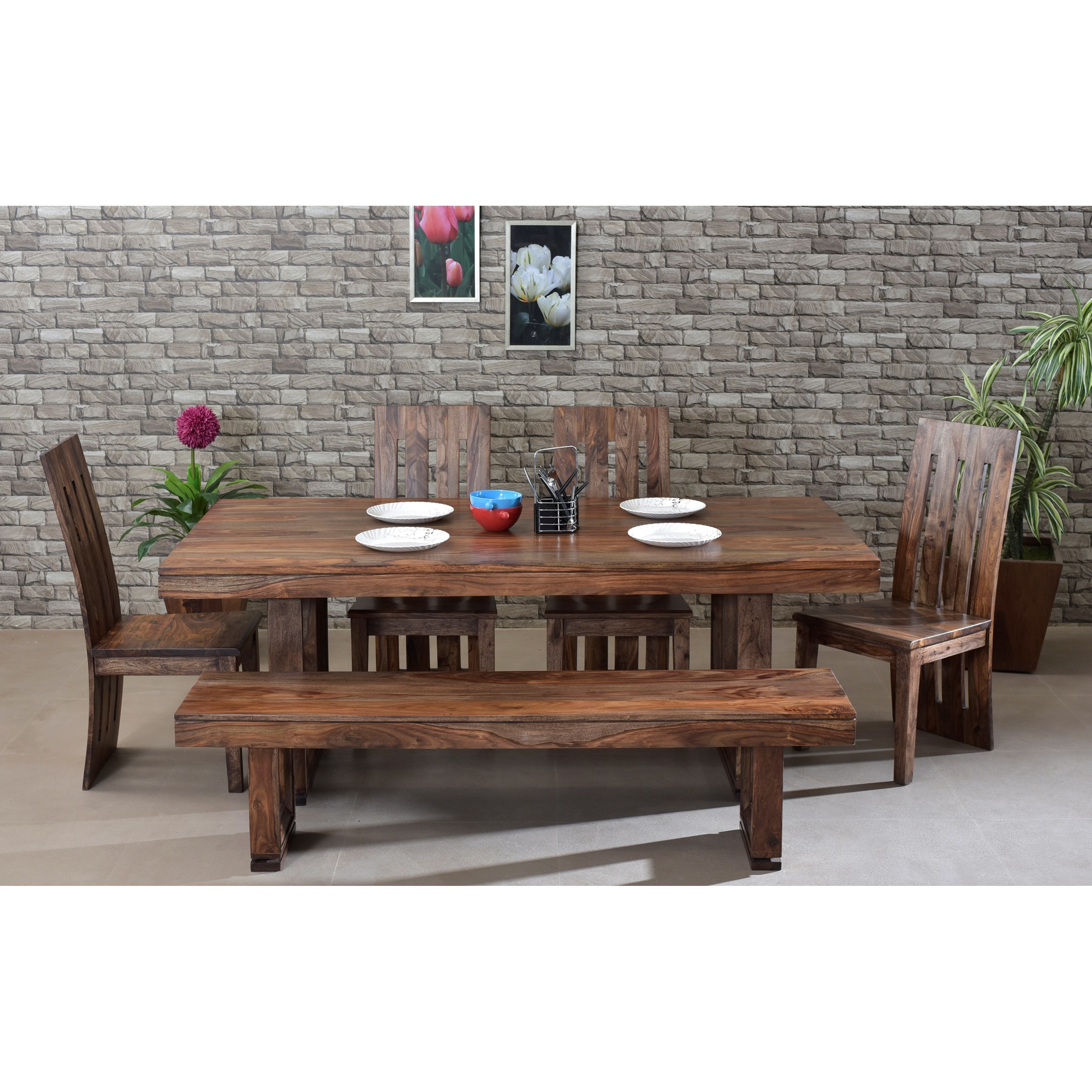 Coast To Coast Imports Brownstone Table And Chair Set With