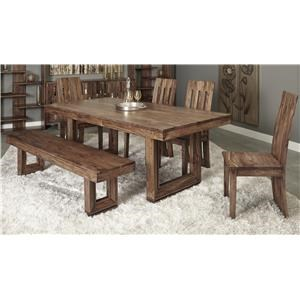 Coast to Coast Imports Brownstone 7 Piece Table and Chair Set