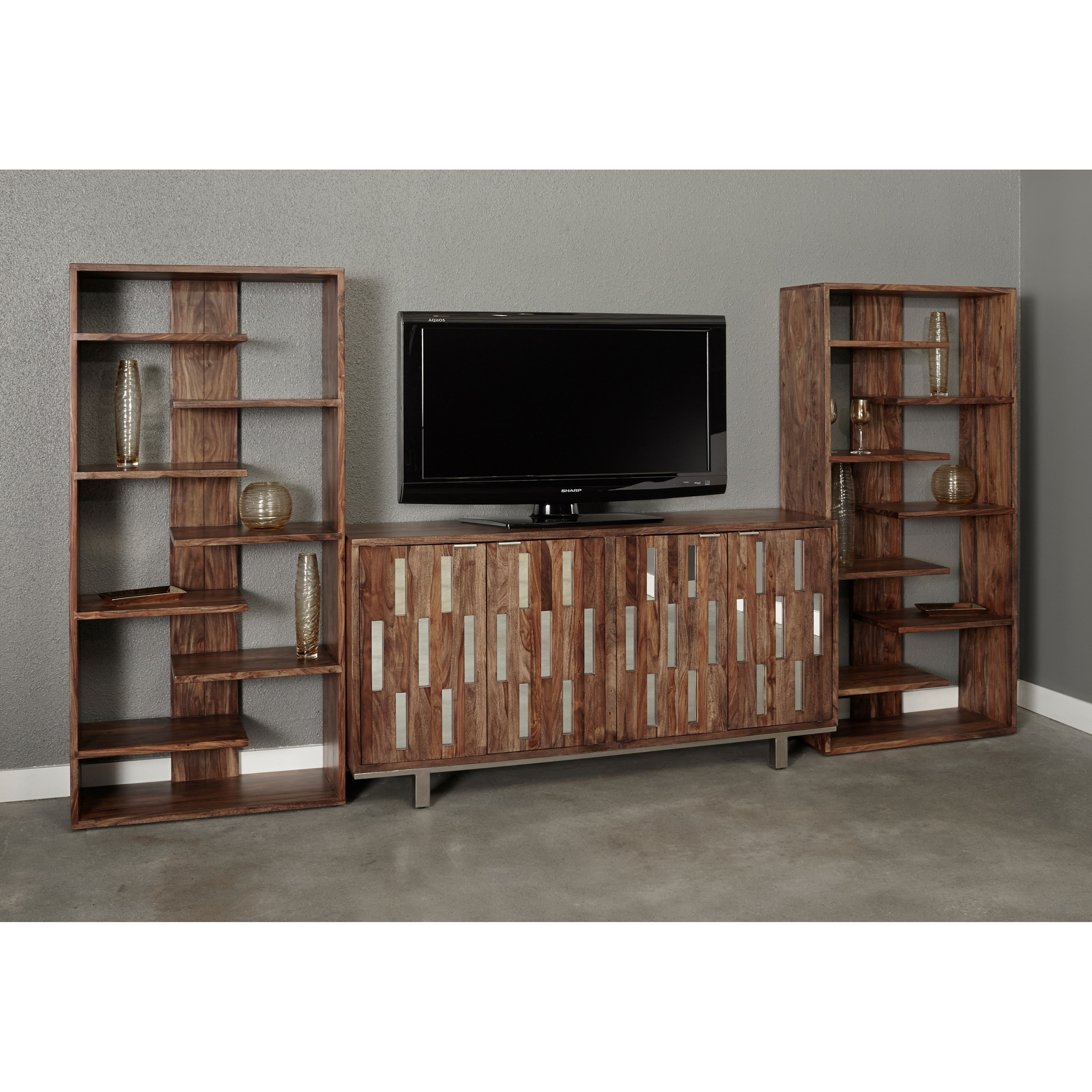 Brownstone TV Wall Unit by Coast to Coast Imports at Zak's Home