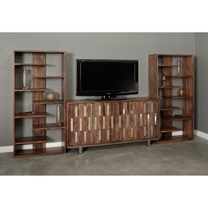 Coast to Coast Imports Brownstone TV Wall Unit
