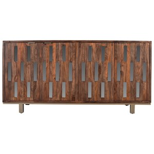 Ruby-Gordon Accents Brownstone Four Door Credenza
