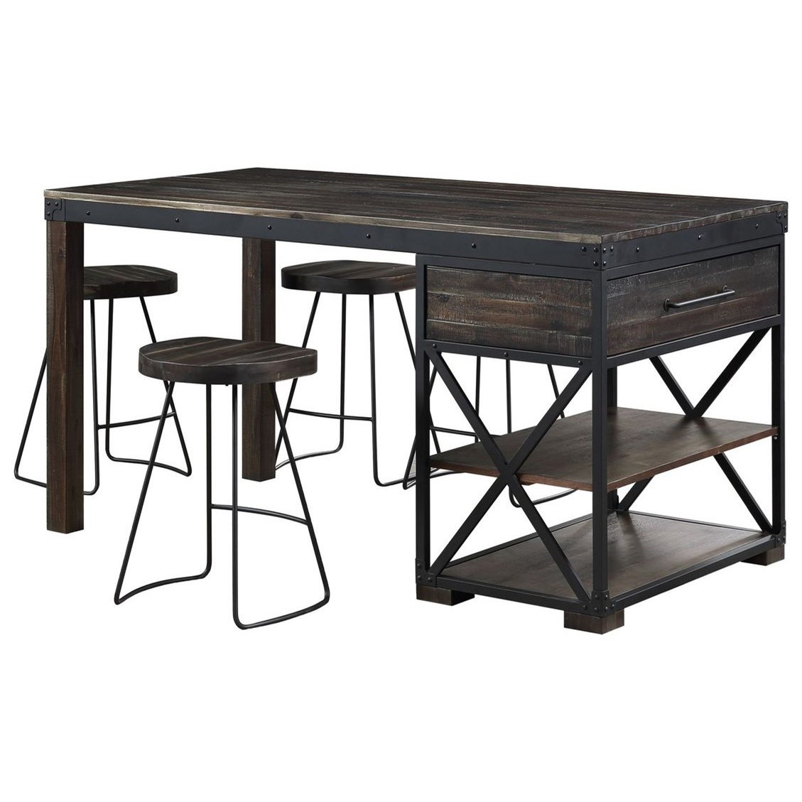 Canyon Ridge 5-Piece Counter Height Table and Stool Set by Coast to Coast Imports at Baer's Furniture