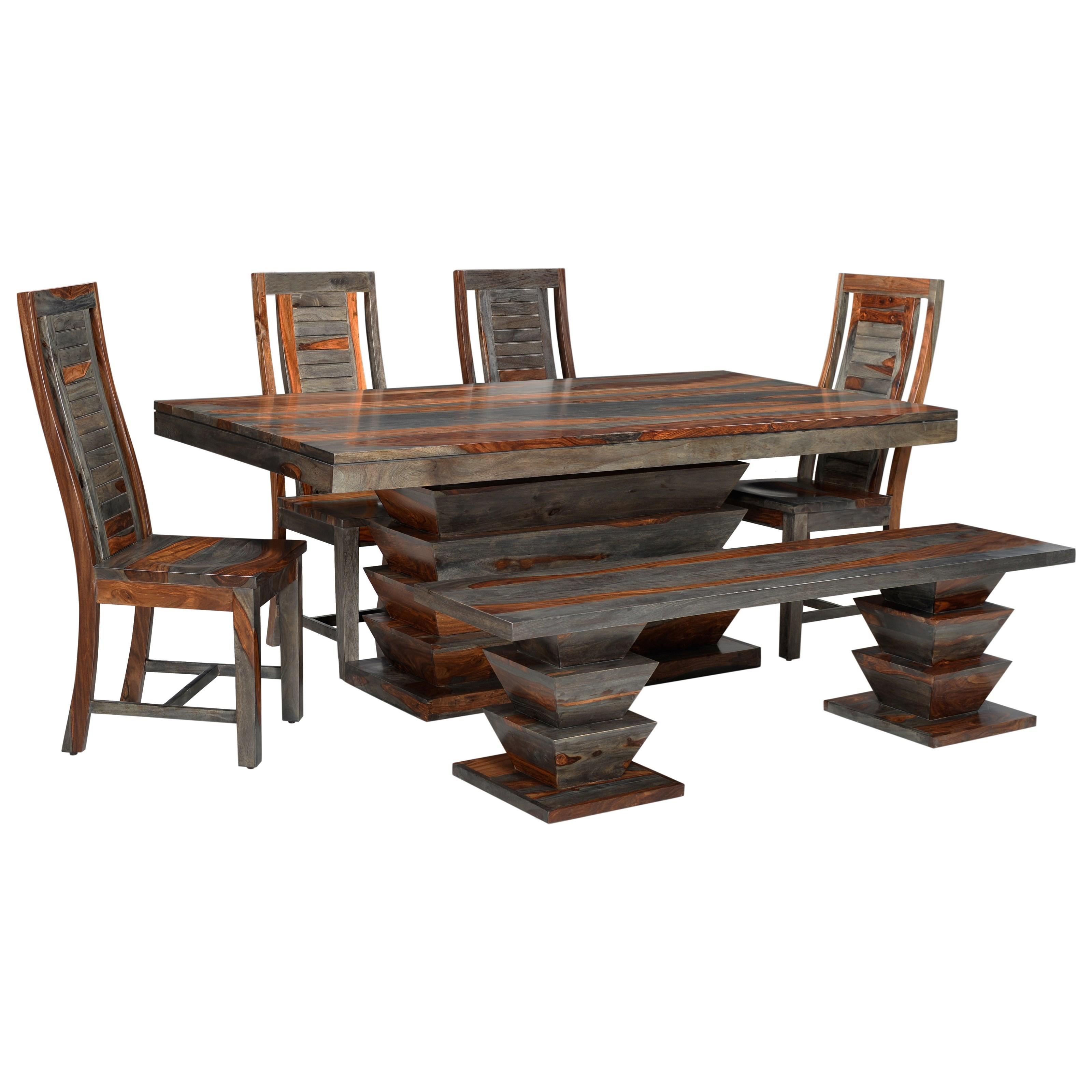 Coast to Coast Imports Capri Table & Chair Set - Item Number: 93443+4x44+45