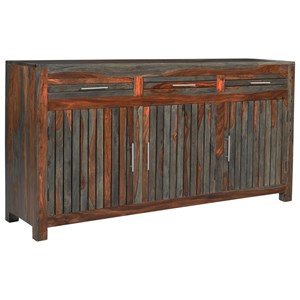 Coast to Coast Imports Capri Three Door Three Drawer Credenza