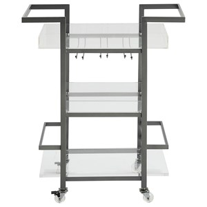 Coast to Coast Imports Coast to Coast Accents Three Tier Bar Cart
