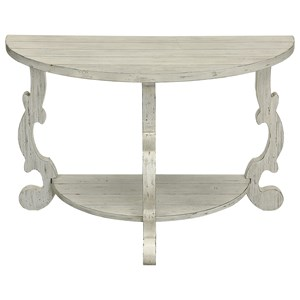 Coast to Coast Imports Coast to Coast Accents Demilune Console Table