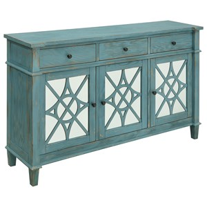 Coast to Coast Imports Coast to Coast Accents Three Drawer Three Door Media Credenza