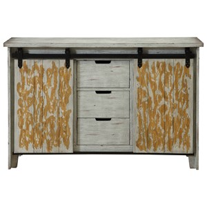 Coast to Coast Imports Coast to Coast Accents Two Sliding Door Three Drawer Credenza