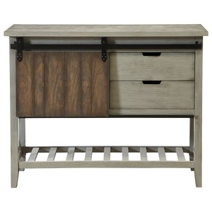 Coast to Coast Imports Coast to Coast Accents One Sliding Door Two Drawer Console