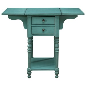 Ruby-Gordon Accents Ruby-Gordon Accents Drop Leaf Two Drawer Accent Table
