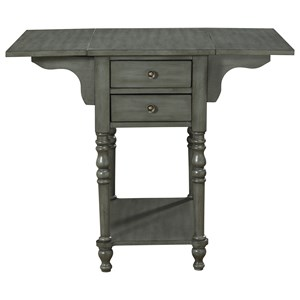 Coast to Coast Imports Coast to Coast Accents Drop Leaf Two Drawer Accent Table
