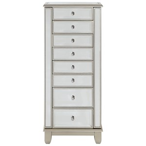 Coast to Coast Imports Coast to Coast Accents Two Door Seven Drawer Jewelry Armoire