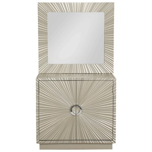 Coast to Coast Imports Coast to Coast Accents Two Door Cabinet and Mirror Set