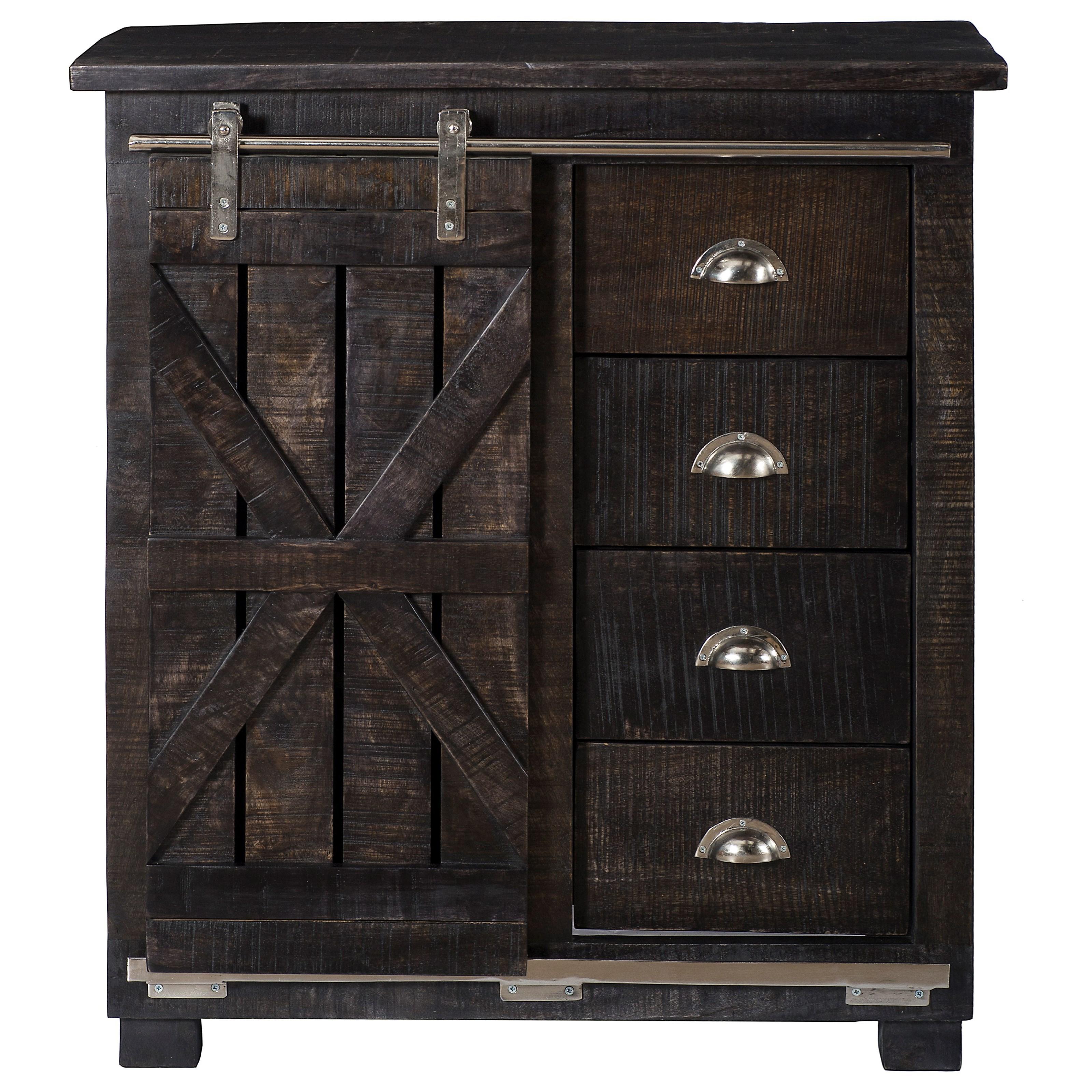 Four Drawer 1 Sliding Door Cabinet