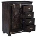 Coast to Coast Imports Coast to Coast Accents Four Drawer 1 Sliding Door Cabinet