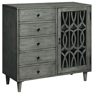 Coast to Coast Imports Coast to Coast Accents One Door Five Drawer Cabinet