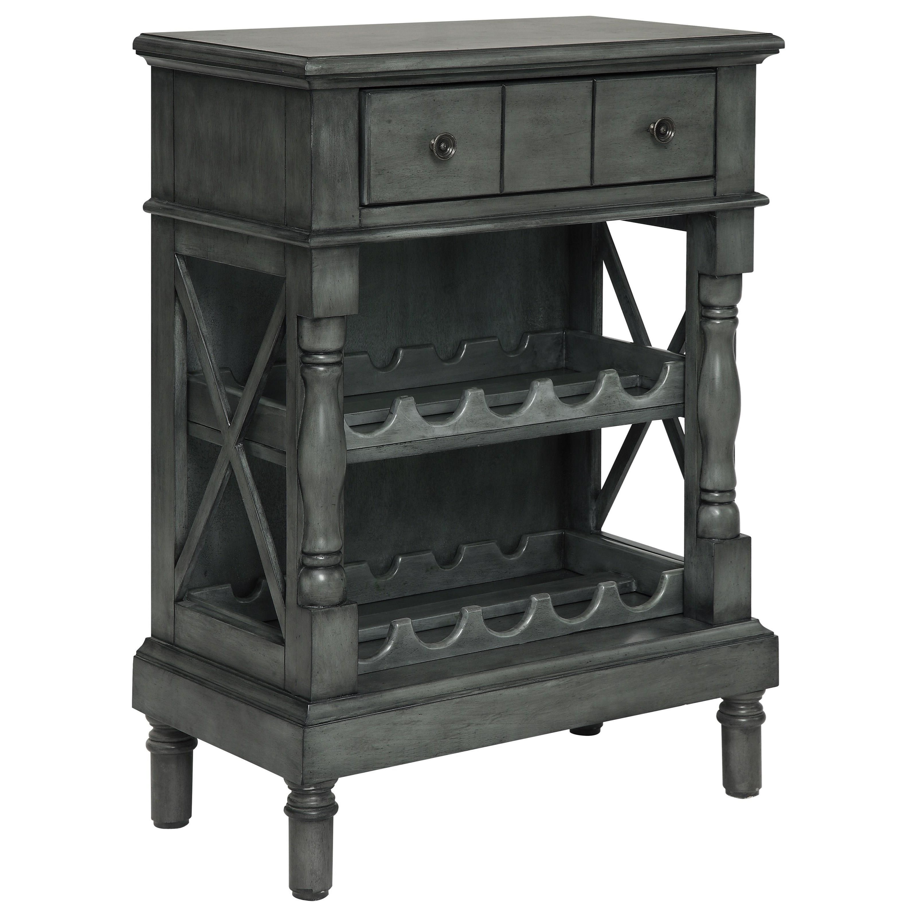 Coast to Coast Accents One Drawer Wine Server/Bookcase by Coast to Coast Imports at Pilgrim Furniture City