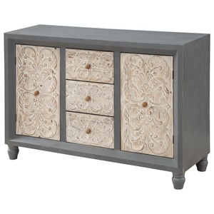 Coast to Coast Imports Coast to Coast Accents Two Door Three Drawer Credenza