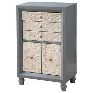Coast to Coast Imports Coast to Coast Accents Two Door Three Drawer Cabinet