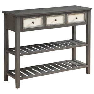 Coast to Coast Imports Coast to Coast Accents Three Drawer Console Table