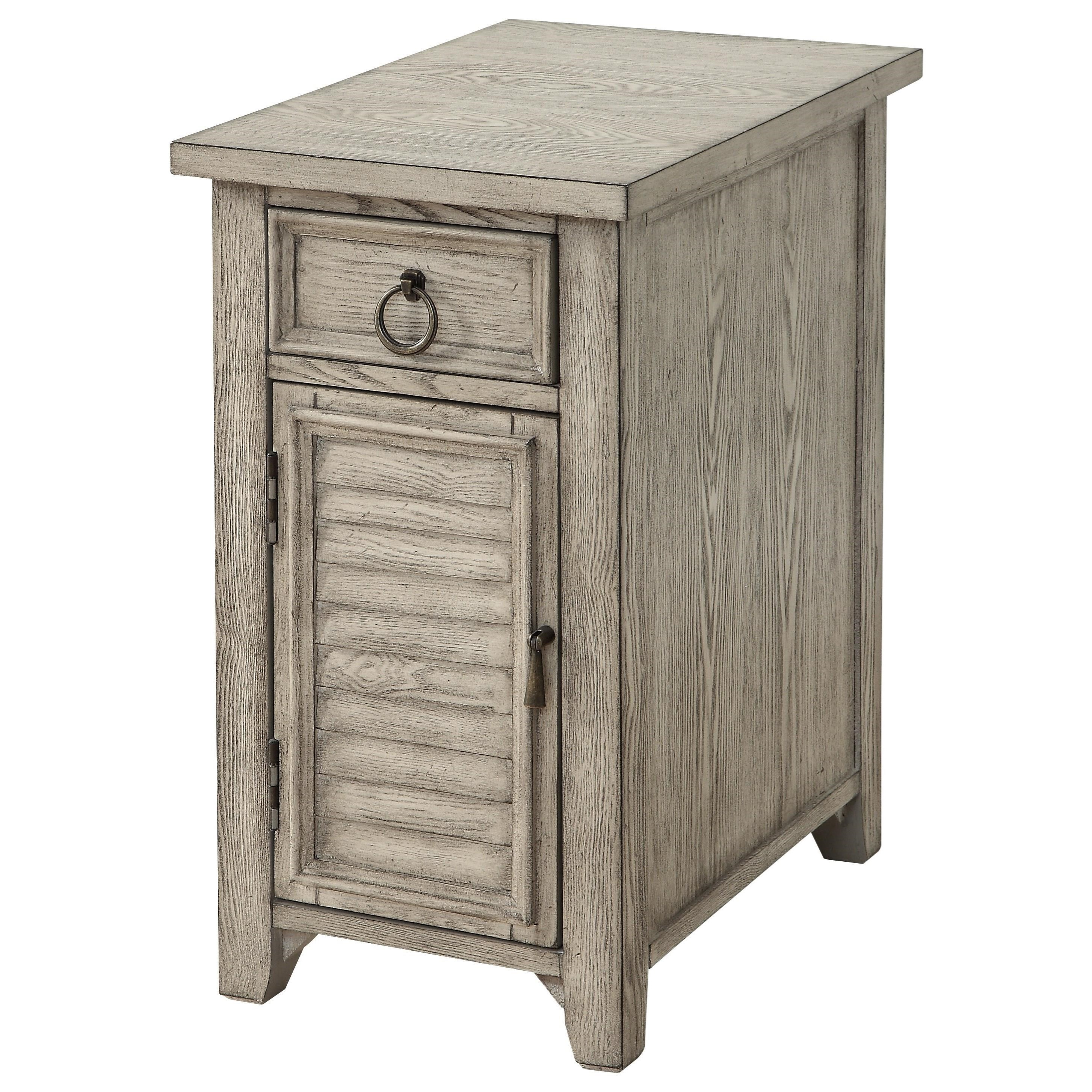 One Door One Drawer Chairside w/ Power
