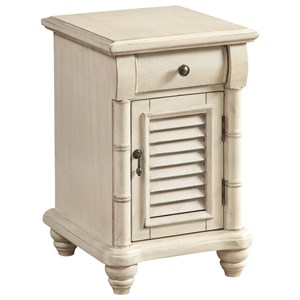 Coast to Coast Imports Coast to Coast Accents One Door One Drawer Chairside w/ Power
