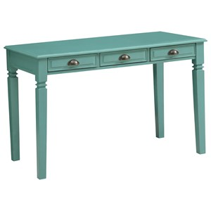 Coast to Coast Imports Coast to Coast Accents Three Drawer Writing Desk w/ Power