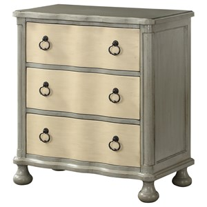 Coast to Coast Imports Coast to Coast Accents Three Drawer Chest w/ Power