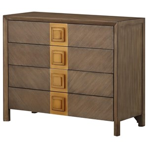 Coast to Coast Imports Coast to Coast Accents Four Drawer Chest w/ Power