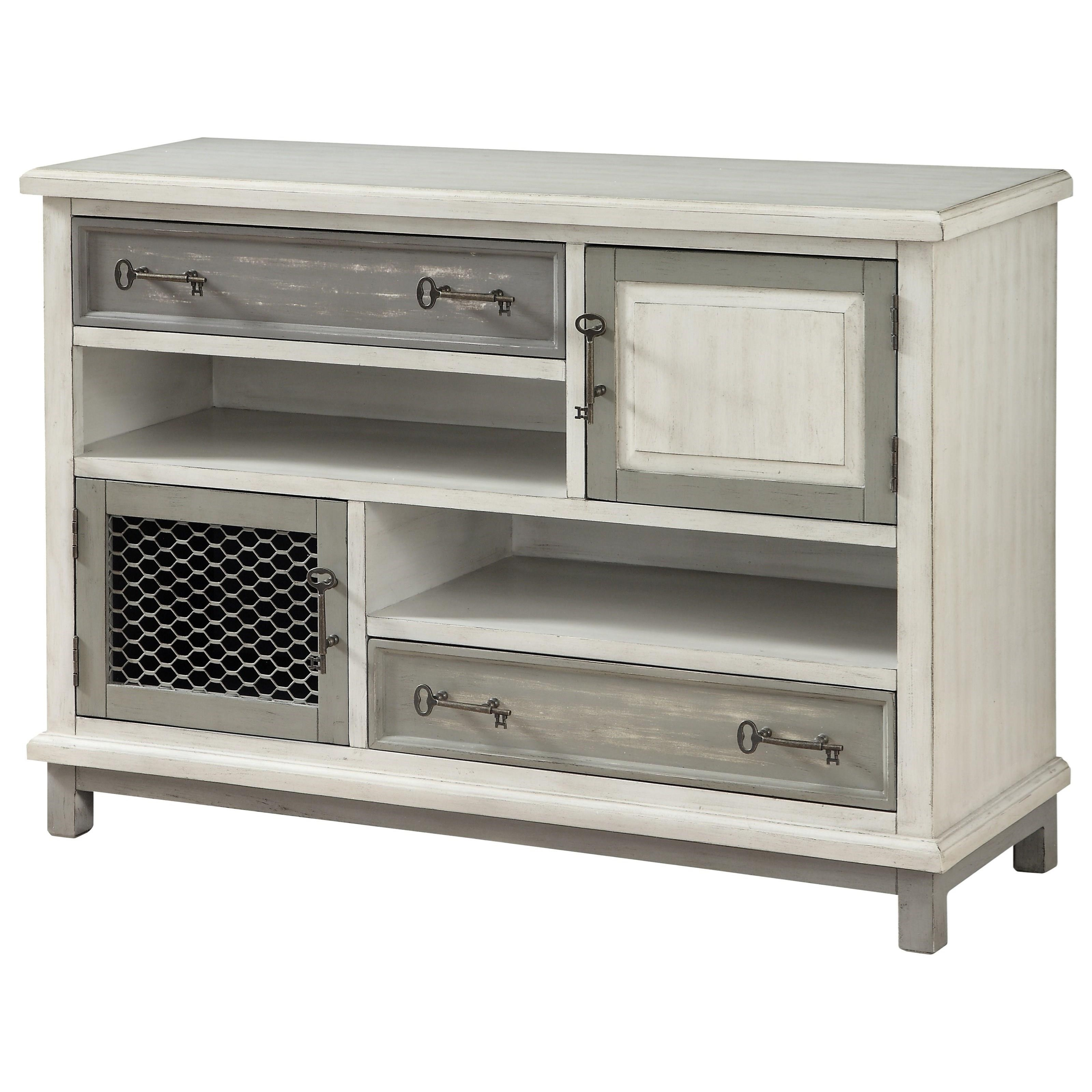Two Drawer Two Door Media Credenza