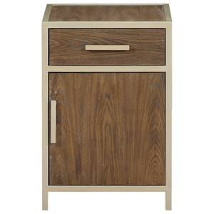 One Door, One Drawer Chairside Cabinet