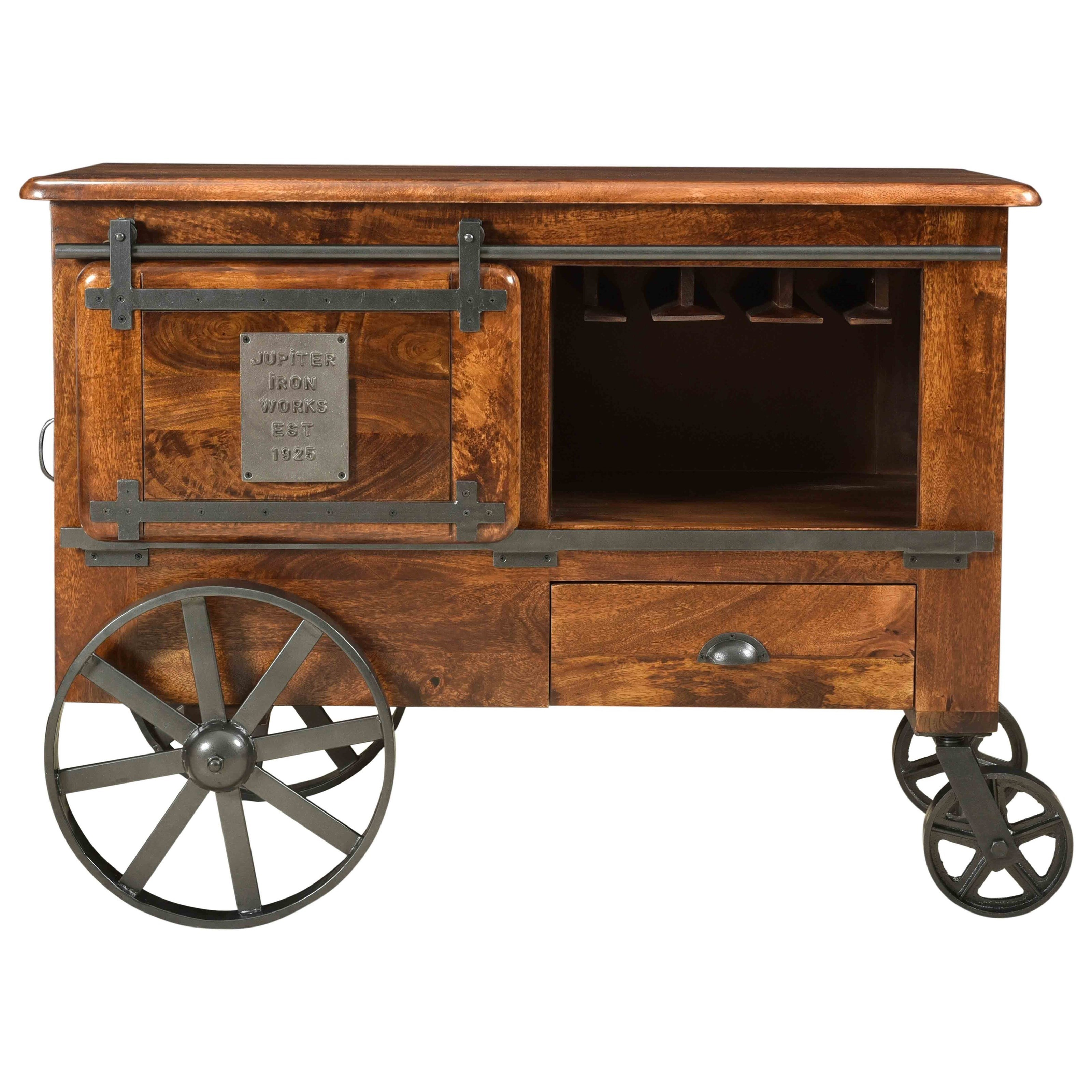 asdf Two Door One Drawer Wine Cart by Coast to Coast Imports at Baer's Furniture