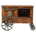Coast to Coast Imports asdf Two Door One Drawer Wine Cart - Item Number: 37127