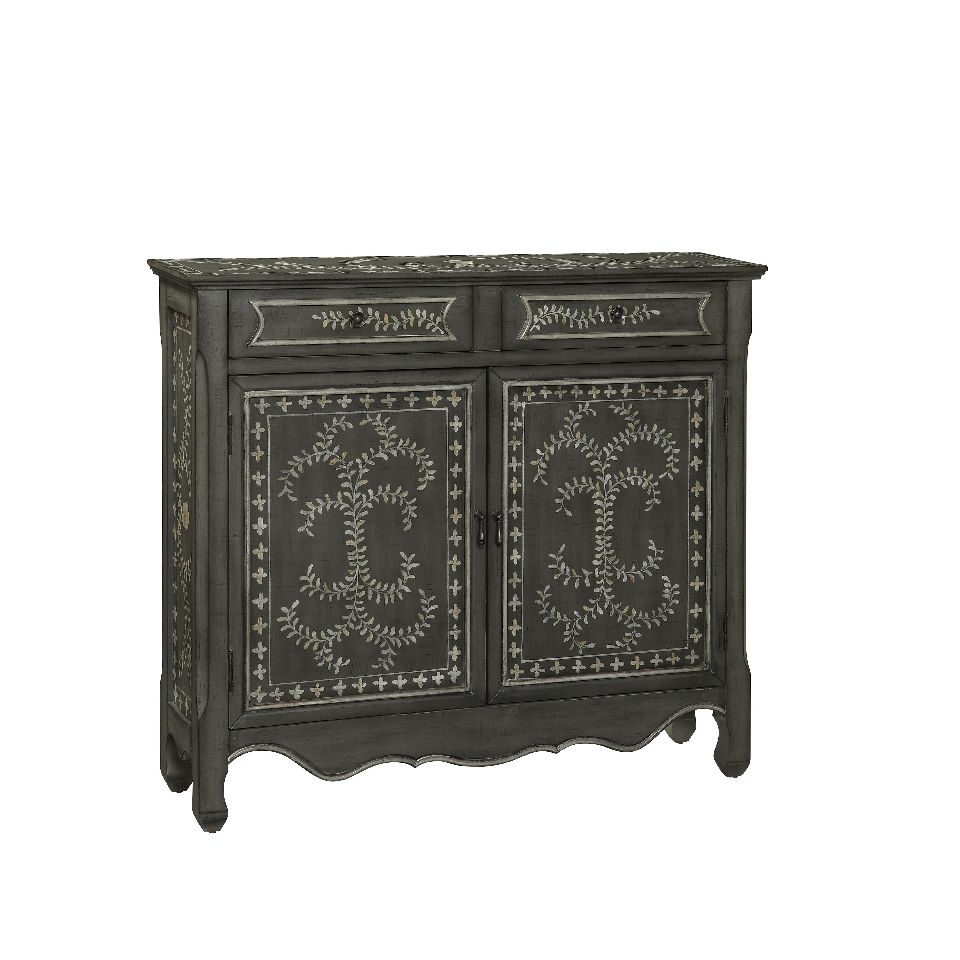 Coast to Coast Imports Coast to Coast Accents Two Drawer Two Door Cupboard - Item Number: 56414