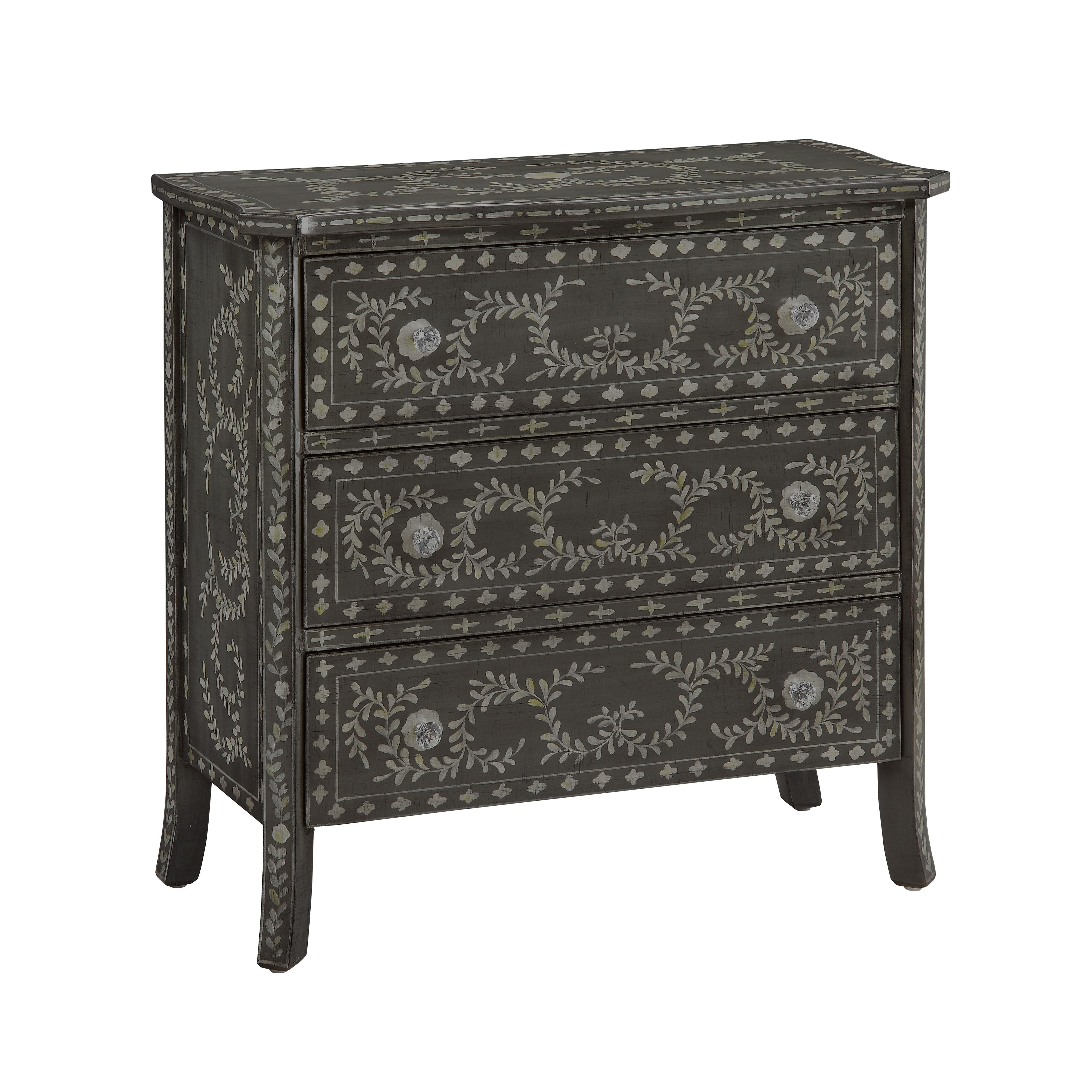 Coast to Coast Imports Coast to Coast Accents Three Drawer Chest - Item Number: 61628