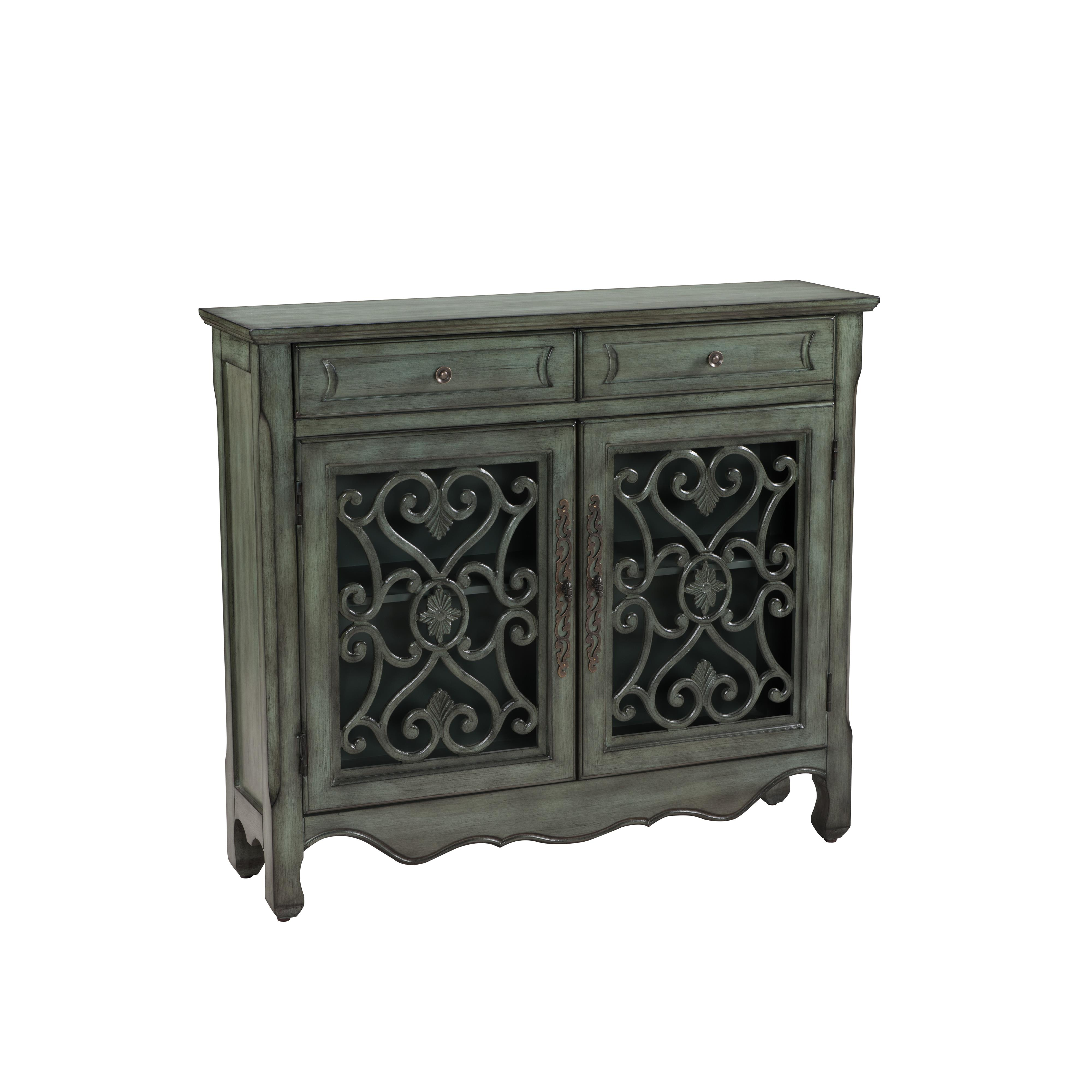 Coast to Coast Imports Coast to Coast Accents Two Drawer Two Door Cupboard - Item Number: 61700