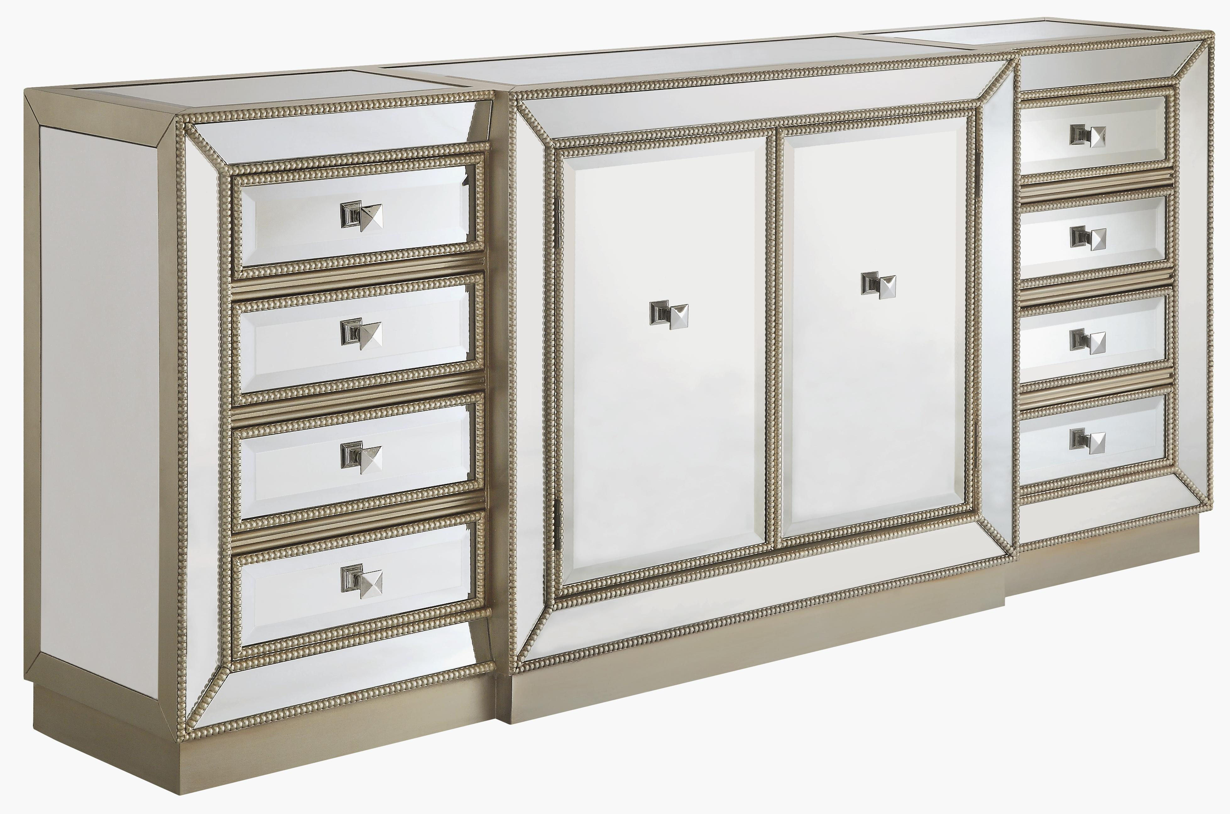 Coast to Coast Imports Coast to Coast Accents Eight Drawer Two Door Credenza - Item Number: 61706
