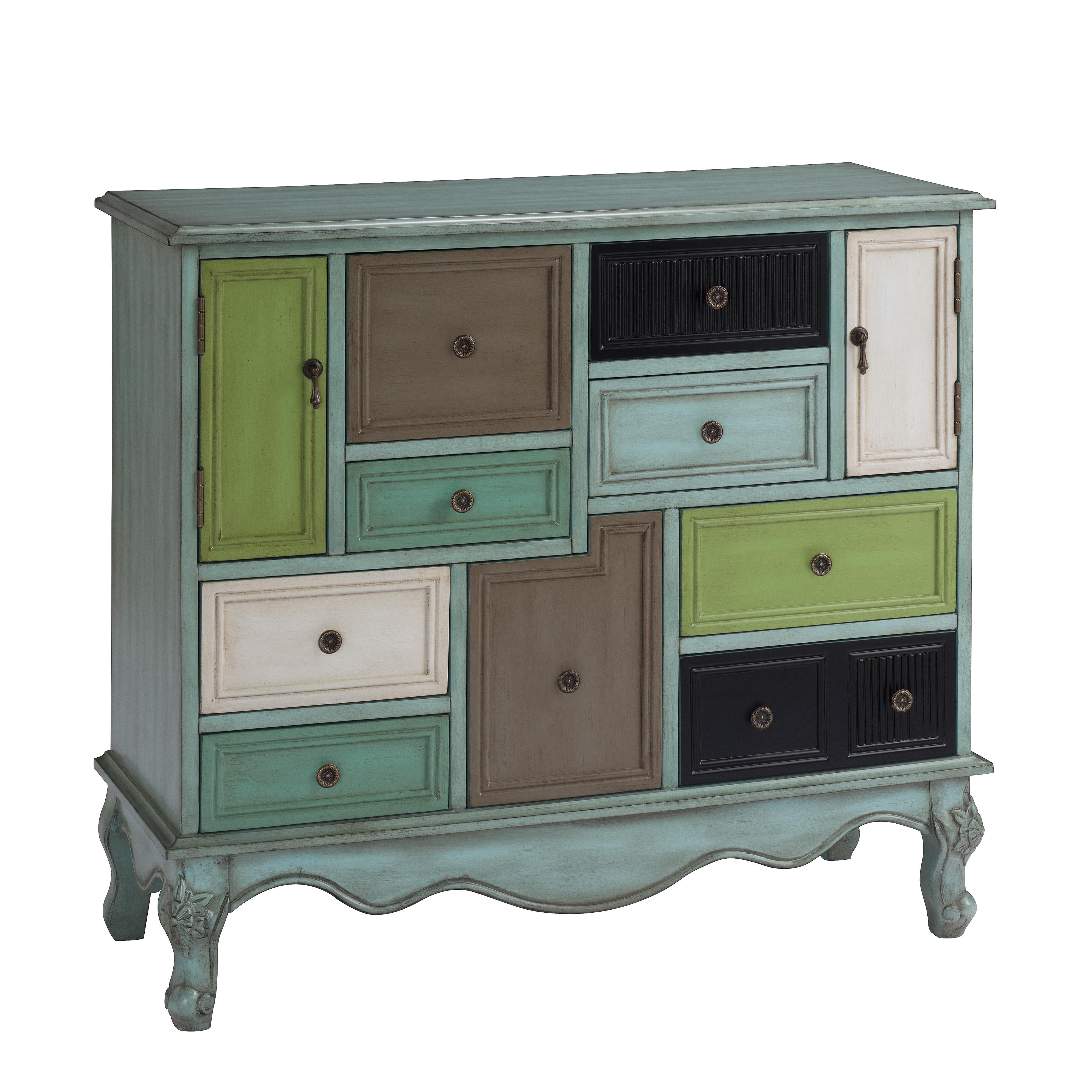 Nine Drawer Two Door Cabinet
