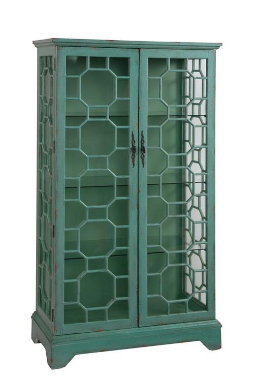 Coast to Coast Imports Coast to Coast Accents Two Door Curio Cabinet - Item Number: 67503
