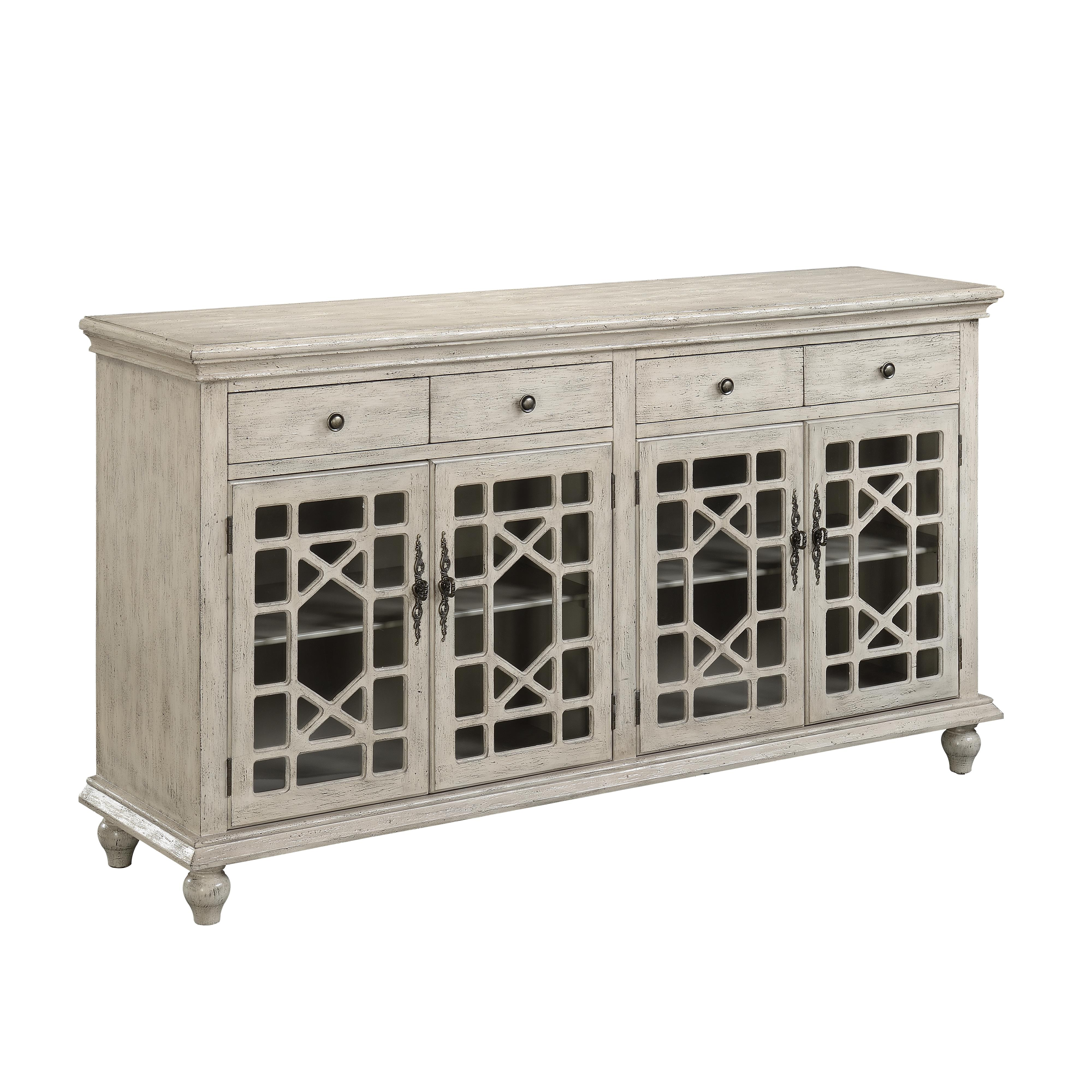 Coast to Coast Imports Coast to Coast Accents Four Door Four Drawer Media Credenza - Item Number: 70828