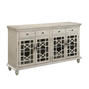 Four Door Four Drawer Media Credenza
