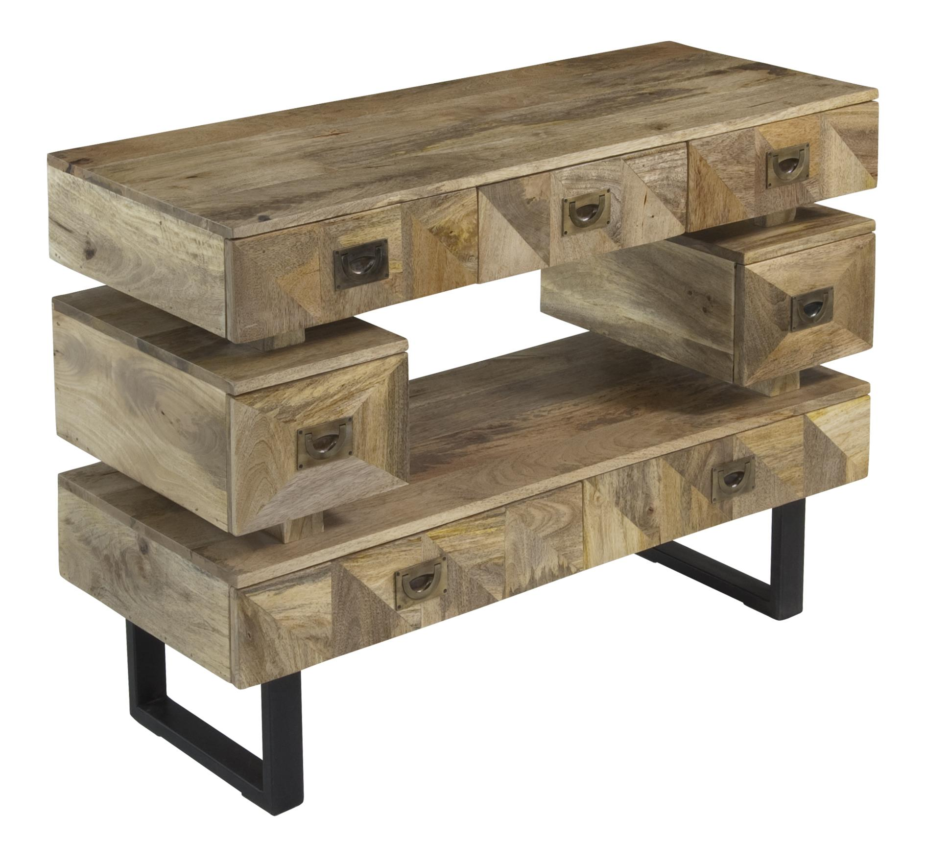 Ruby Gordon Accents Seven Drawer Media Console Ruby