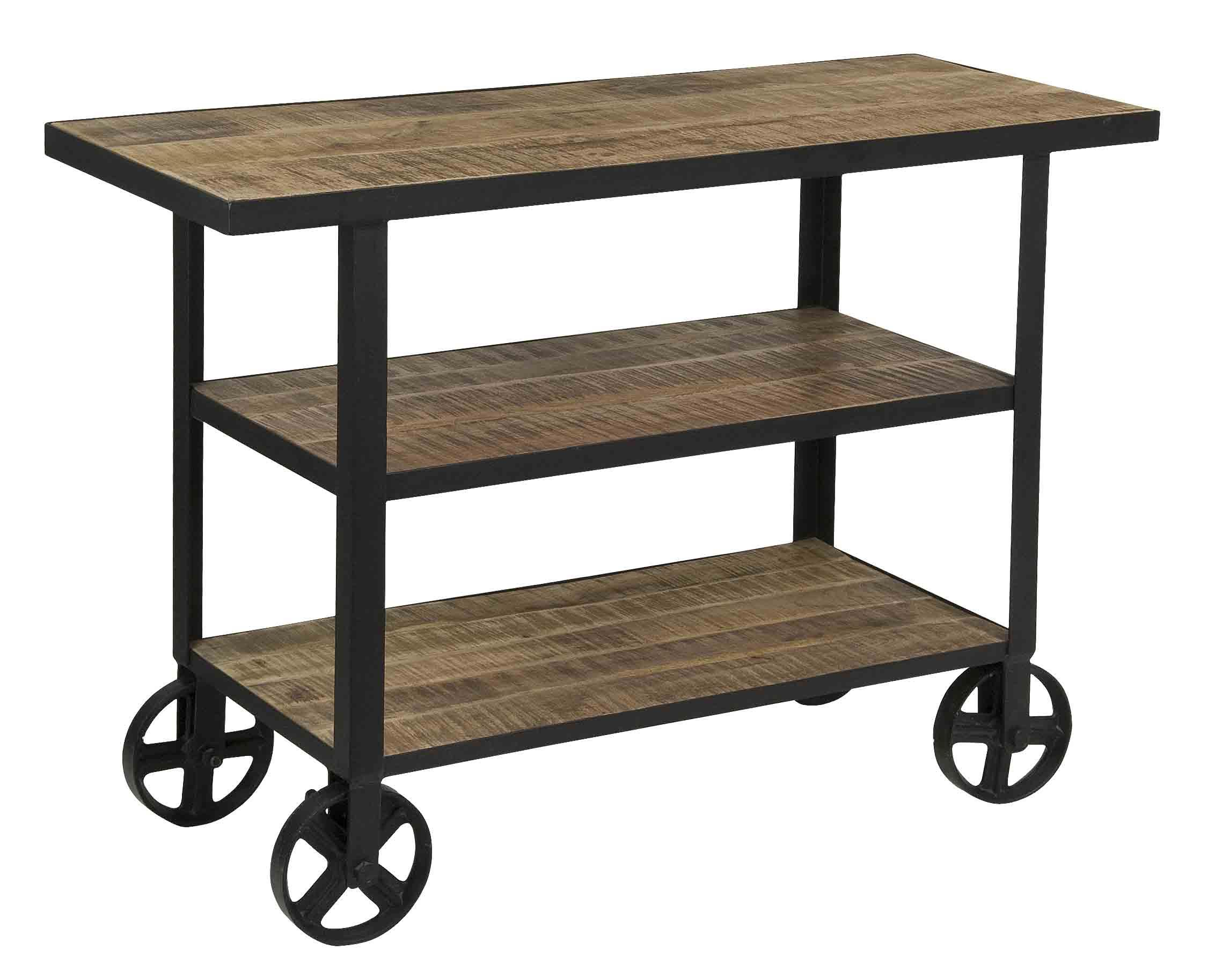 Coast to Coast Imports Coast to Coast Accents Two Shelf Trolley Cart - Item Number: 75358