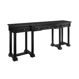 Morris Home Furnishings Accents Moscow Three Drawer Console Desk