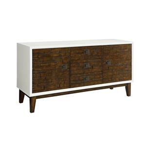 Coast to Coast Imports Coast to Coast Accents Three Drawer Two Door Media Credenza