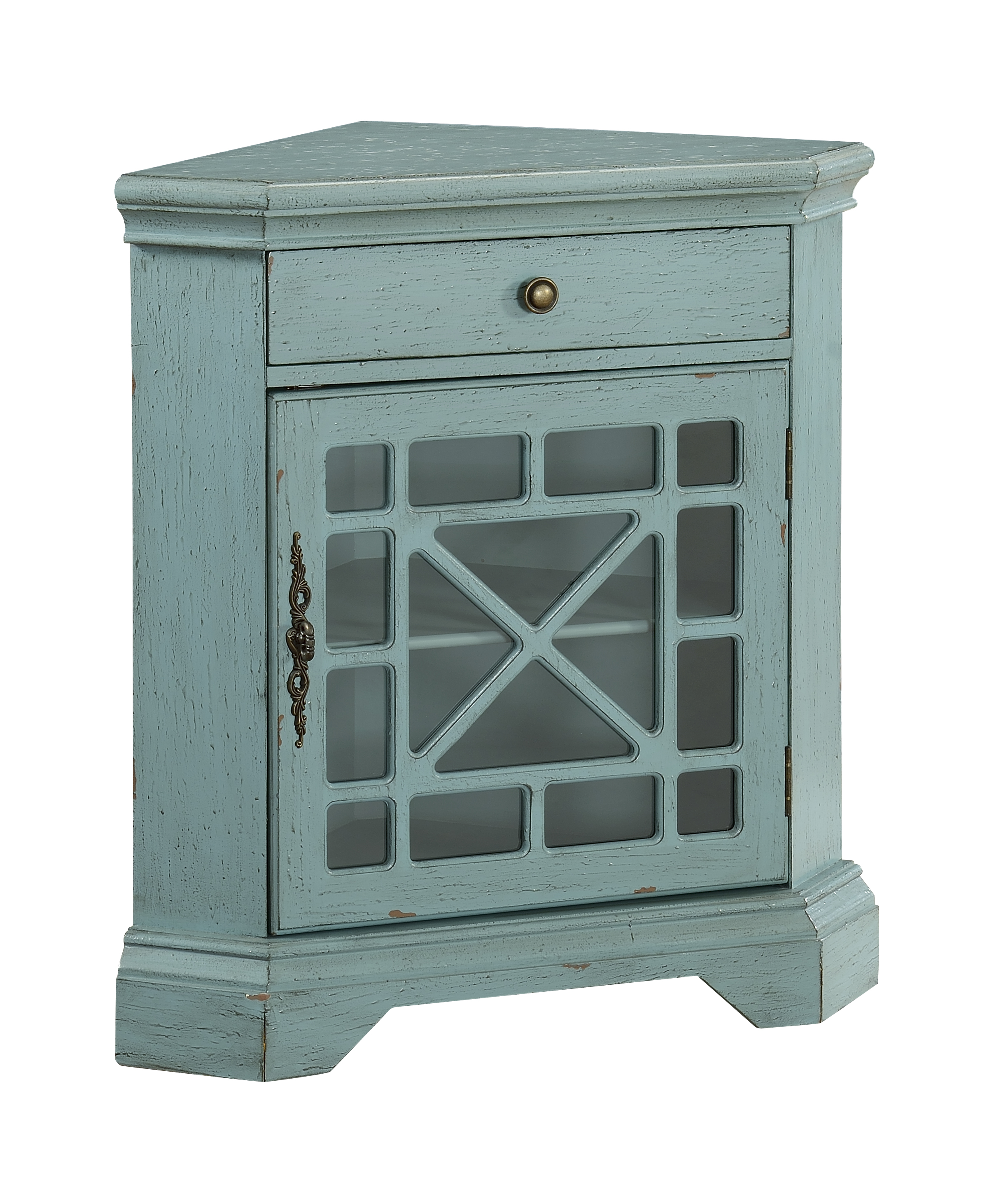 Coast to Coast Accents One Drawer One Door Corner Cabinet by Coast to Coast Imports at Johnny Janosik