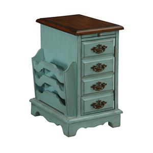 Coast to Coast Imports Coast to Coast Accents One Door Pull Out Tray Magazine Cabinet