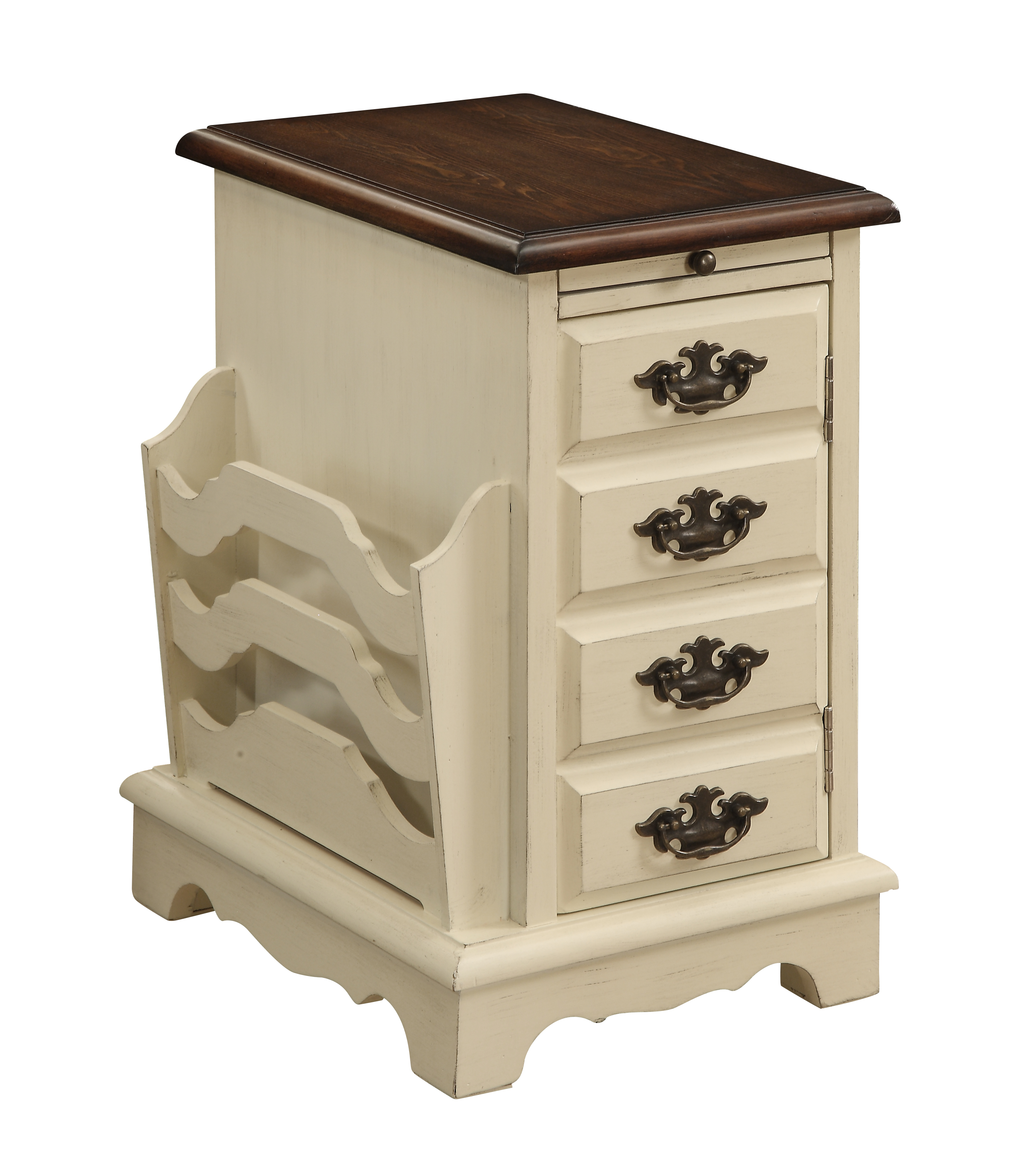 Coast to Coast Imports Coast to Coast Accents One Door Pull Out Tray Magazine Cabinet  - Item Number: 78703
