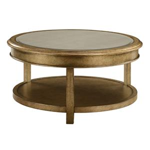 Coast to Coast Imports Coast to Coast Accents Round Bevel Mirror Cocktail Table